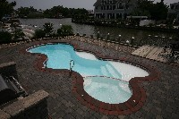 Desert Springs Fiberglass Pool and Spa in Cedarpines Park, CA